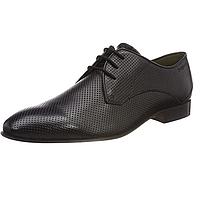 Туфли мужские кожаные Bugatti Derbys, черные. Оригинал. Размер 44