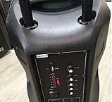Аккумуляторная колонка чемодан Ailiang LiGE-AR12QKS, беспроводная 12 дюймовая акустика, комбоусилитель, фото 4