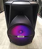 Аккумуляторная колонка чемодан Ailiang LiGE-AR12QKS, беспроводная 12 дюймовая акустика, комбоусилитель, фото 3