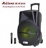 Аккумуляторная колонка чемодан Ailiang LiGE-AR12QKS, беспроводная 12 дюймовая акустика, комбоусилитель, фото 7