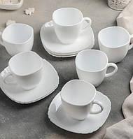 Сервіз чайний Lotusia Luminarc 12 предметний: 6 чашок 220 мл, 6 блюдець.