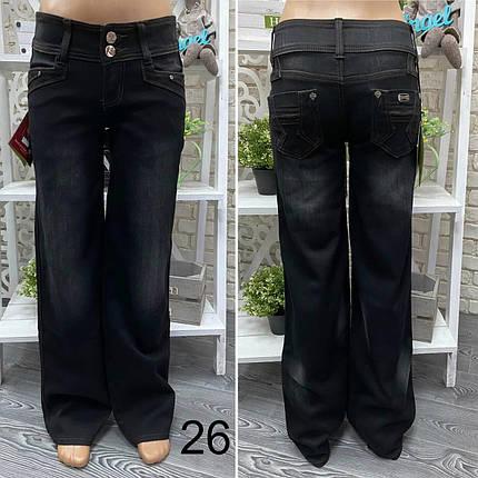 """Стильные женские расклешенные темные джинсы, ткань """"Джинс"""" 26, 27 размер 26, фото 2"""