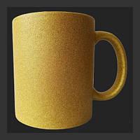 Нанесение изображения на чашку ГЛИТТЕР золото.