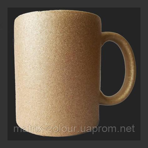 Нанесение изображения на чашку ГЛИТТЕР шампань.