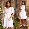 Женское платье высокого качества, летнее с резинкой на талии(48-62)