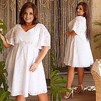 Женское платье высокого качества, летнее с резинкой на талии(48-62), фото 1