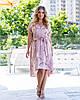 Женское платье стильное с ткани софт в цветочный принт, короткое(44-52)