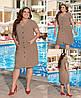 Жіноче плаття стильне з льону однотонне з кишенями(48-58)