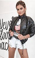 Женская куртка плащевка+100 синтепон,хорошего качества, без капюшона (42-48)