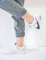 Кроссовки женские белые Nike Air Force 1 LowWhite/Black Найк Аир Форс 1 /Жіночі кросівки Найк Форс 1 Білі