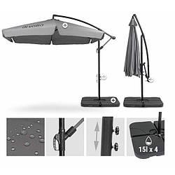 Зонт садовый складной со стойкой di Volio EMPOLI 300см серый садовый зонтик