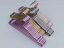 Металлические хромированные плечики для одежды