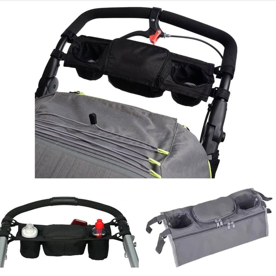 Сумка - органайзер для коляски СЕРОГО (0189)