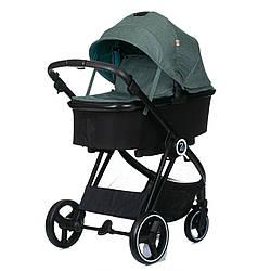 Детская коляска универсальная 2 в 1 BabyZz В102 зеленая