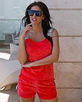 Жіночий літній костюм з турецького велюру на бавовні шикарного якості(44-52), фото 1