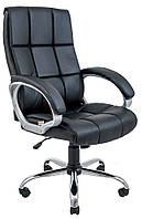 Кресло компьютерное Аризона, черный, кожзам, Richman