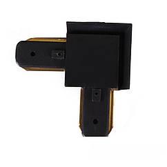 Коннектор для трекового светильника угловой Черный