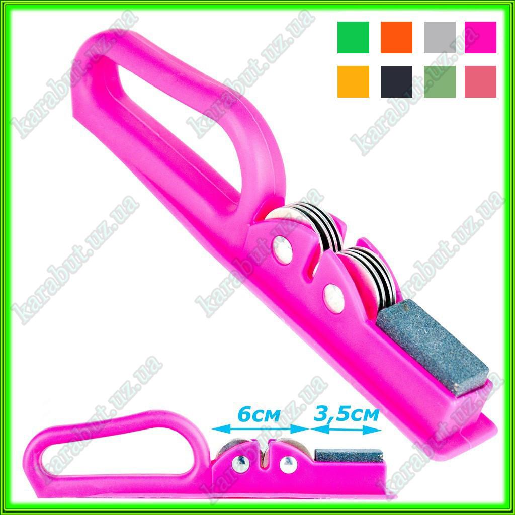 Точилка для ножей с пластиковой цветной ручкой L19,5см