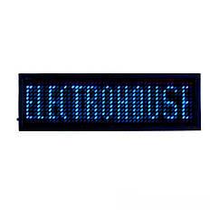 LED бейдж 44Х11 т.  90х30х6 мм  Синий