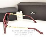 Сонцезахисні окуляри Dior дзеркальні бузкові оправа металева ультрамодні якісна репліка, фото 3