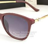 Сонцезахисні окуляри Dior дзеркальні бузкові оправа металева ультрамодні якісна репліка, фото 2