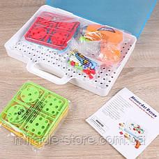 Мозаика конструктор с шуруповертом 106 деталей детский набор инструментов с мозаикой, фото 3