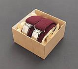 Женские бордовые подтяжки на подарок, фото 3