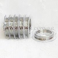 Проволока 0,3 мм, длина 10м,  серебро