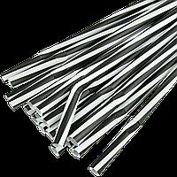Трубочка Фреш 8мм 23,5см 100шт Черно-белая полоска с коленом