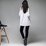 Офисная  рубашка из поплина размеры: S, M, L. цвет белый, фото 5