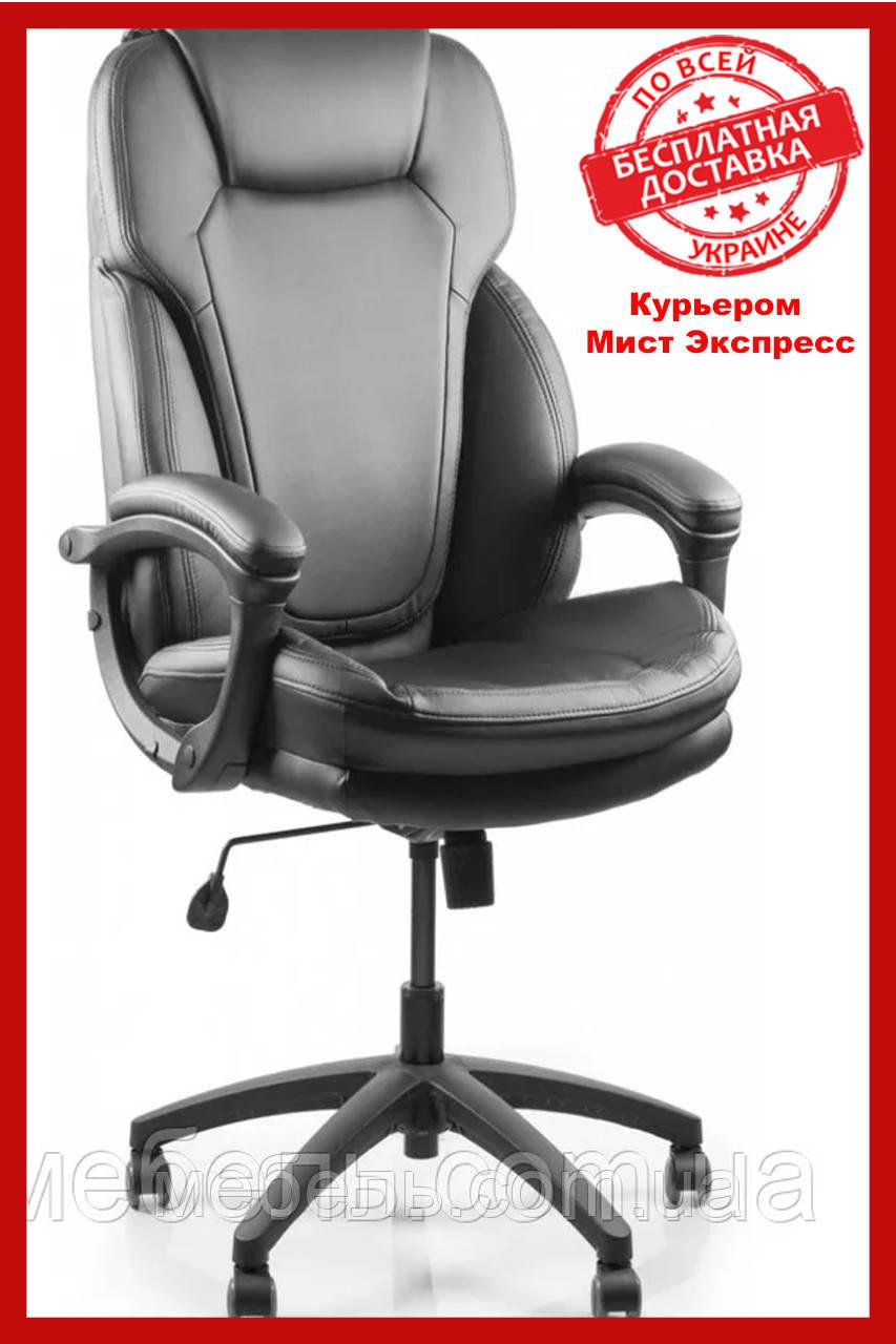 Офісний стілець Barsky Soft Arm black PU SPUb-01