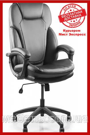 Офісний стілець Barsky Soft Arm black PU SPUb-01, фото 2