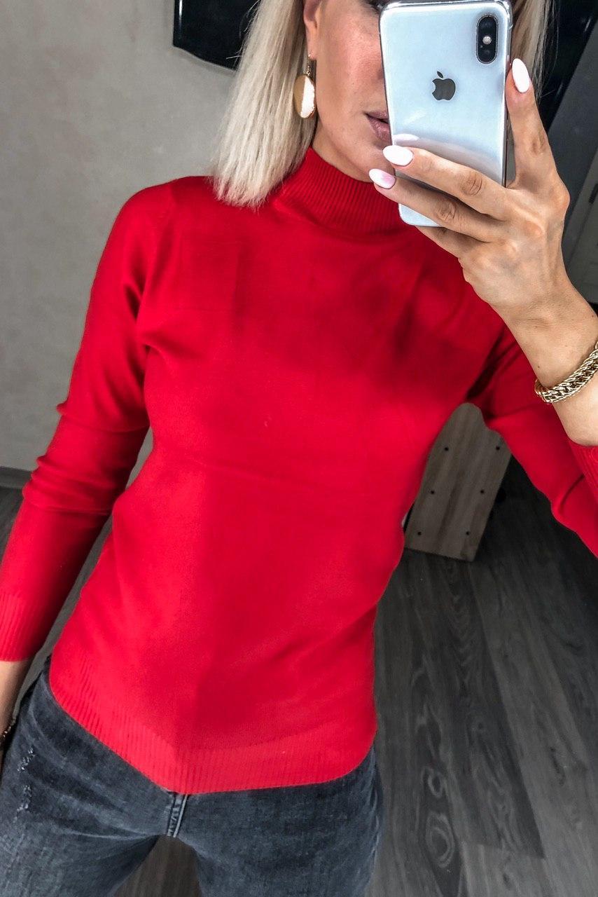 Водолазка-Гольф базова жіноча, під горло Червоний