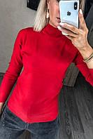Водолазка-Гольф базова жіноча, під горло Червоний, фото 1