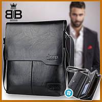Мужская сумка Jeep + кошелек в подарок