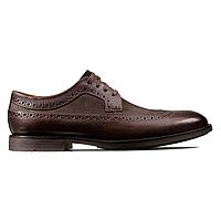 Туфли мужские кожаные Clarks Ronnie Limit, коричневые. Оригинал. Размер 41,5