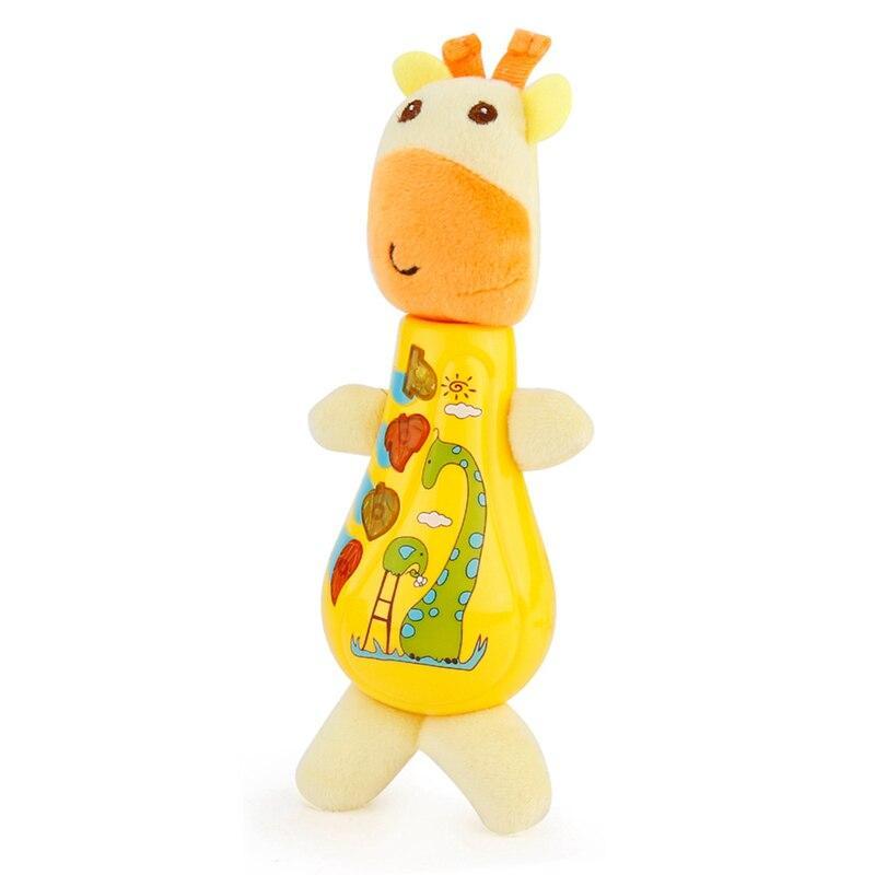 М'яка іграшка-брязкальце з музикою JLD-20A Жираф