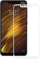Захисне скло для Xiaomi Pocofone F1 (білий) 2.5 D 0.3 мм