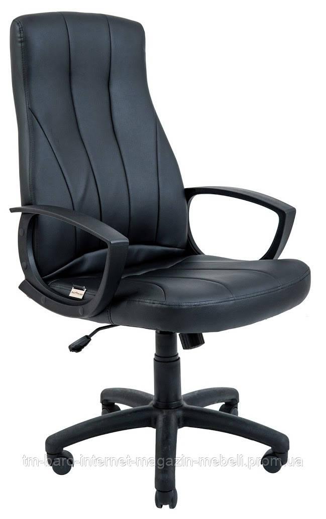 Кресло компьютерное Невада, черный, кожзам, Richman