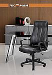 Кресло компьютерное Невада, черный, кожзам, Richman, фото 6
