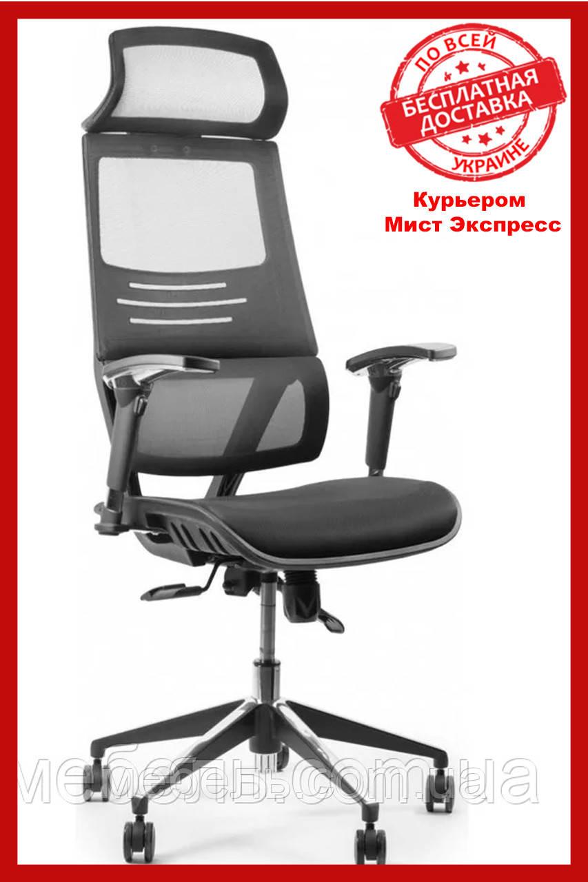 Офисное кресло Barsky BB-04 Black New, сеточное кресло