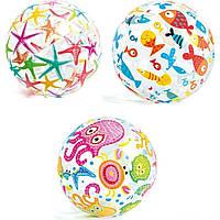 Intex Мяч 59040 NP (36) разноцветный, диаметром 51см, 3 вида, от 3-х лет