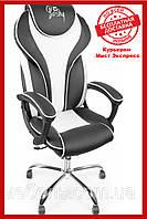 Офисный стул Barsky Sportdrive White Arm_pad Tilt Chrome BSDchr-04