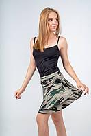 Юбка женская мини с оборками камуфляж, фото 1