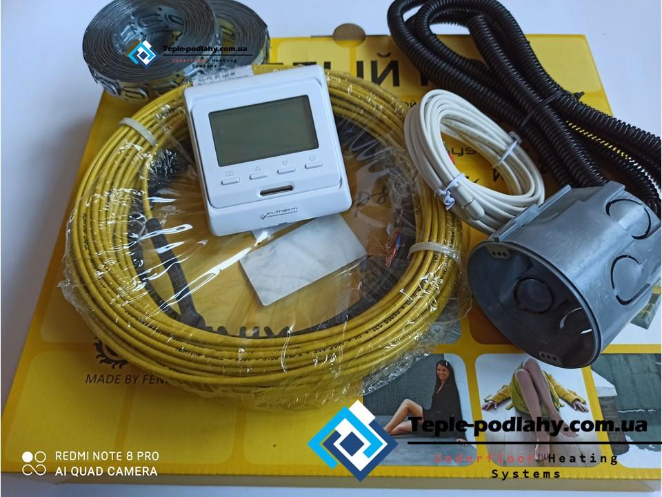 Надійний електричний кабель тепла підлога під плитку Ін-Терм Чехія, 7,9 м.кв (Серія Е-51) + Подарунок
