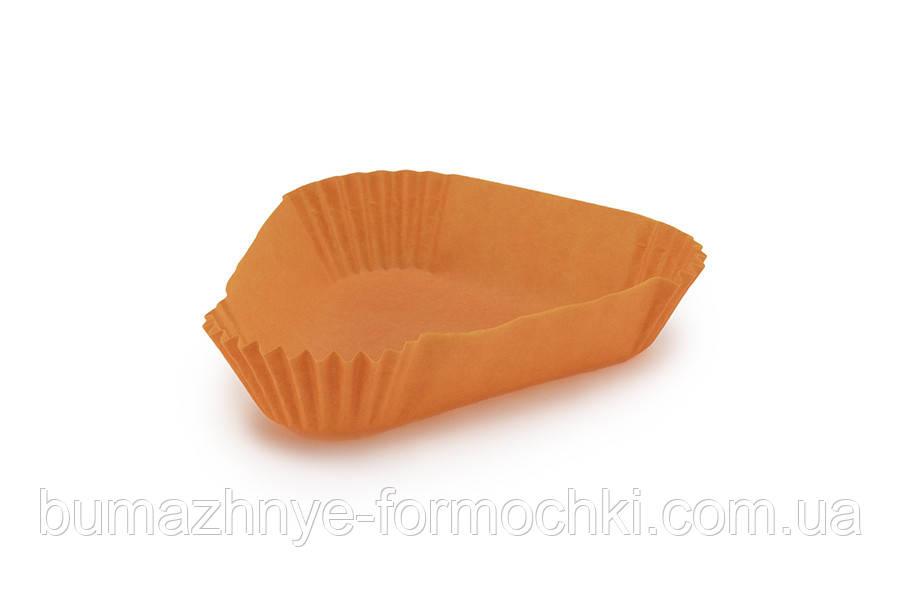 Треугольная бумажная форма, оранжевая