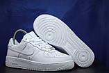 Nike air force белые мужские низкие кроссовки натуральная кожа 43 размер, фото 2