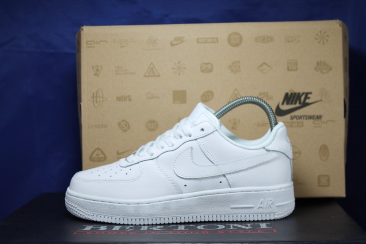 Nike air force белые мужские низкие кроссовки натуральная кожа 43 размер