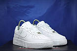 Nike air force белые мужские низкие кроссовки натуральная кожа 43 размер, фото 3