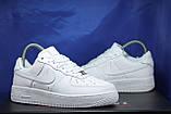 Nike air force белые мужские низкие кроссовки натуральная кожа 43 размер, фото 5